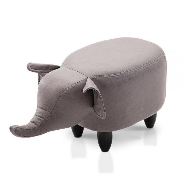 Made to be totally child-safe, the Cow Kids Animal Stool comprises a sturdy wood frame with solid rubber wood legs. Thick sponge padding is found in the seat and head and the entire assembly is wrapped in durable polyester fabric for long lasting use.