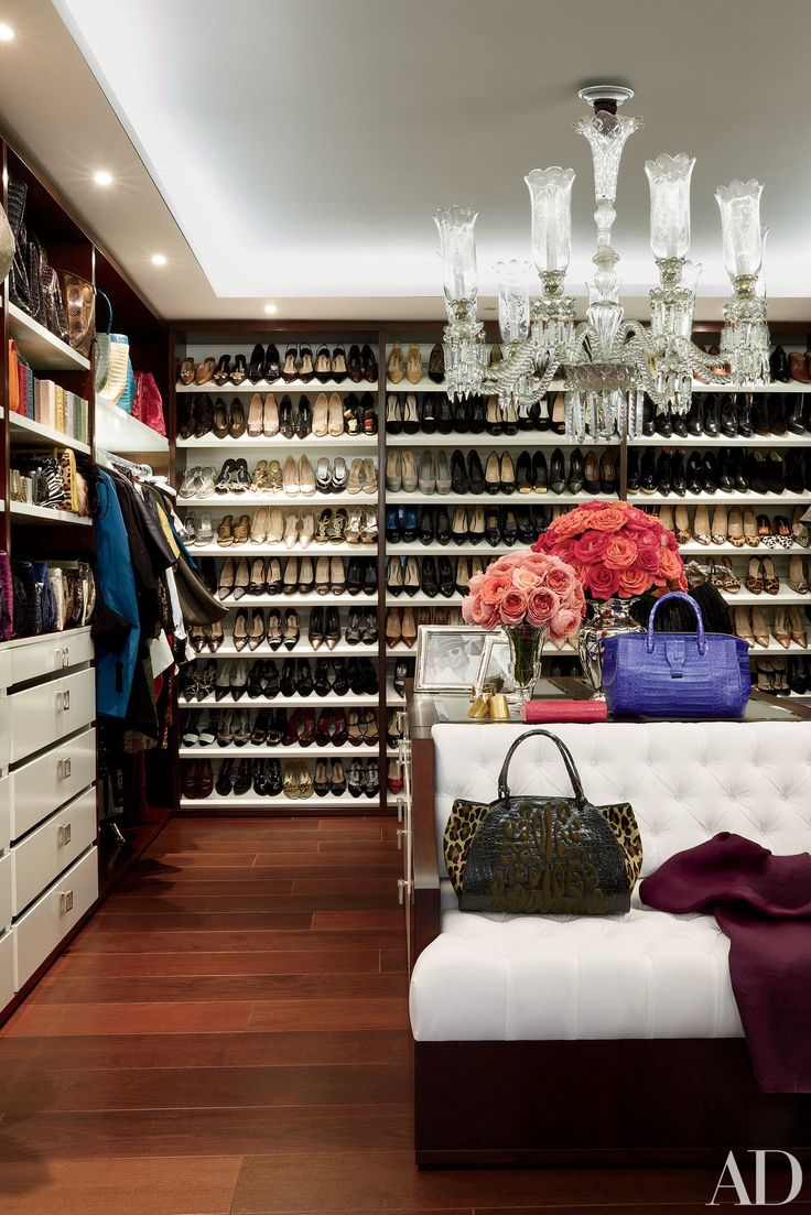 Most of us have pretty unimpressive closets: It's not because we're necessarily disorganized, it's because we usually lack the space for an epic, massive closet -- and lack the extensive wardrobe to show off inside. Celebrities, though...well, they're a little bit different. Many of them have dozens of designer dresses, hundreds of pairs of shoes, and enough accessories to start their own little department store. As such, they need the closets to match. You can see a collection of these…