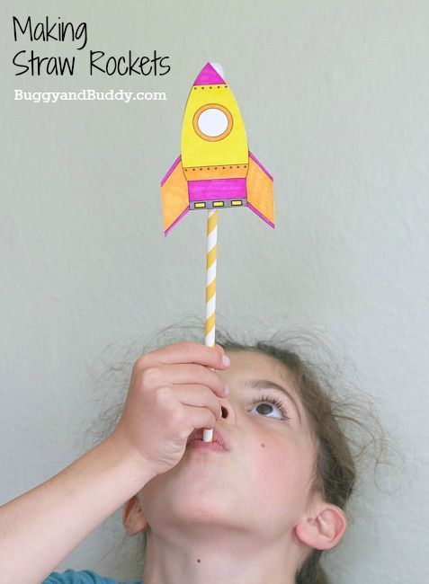 Science for Kids: Making Straw Rockets