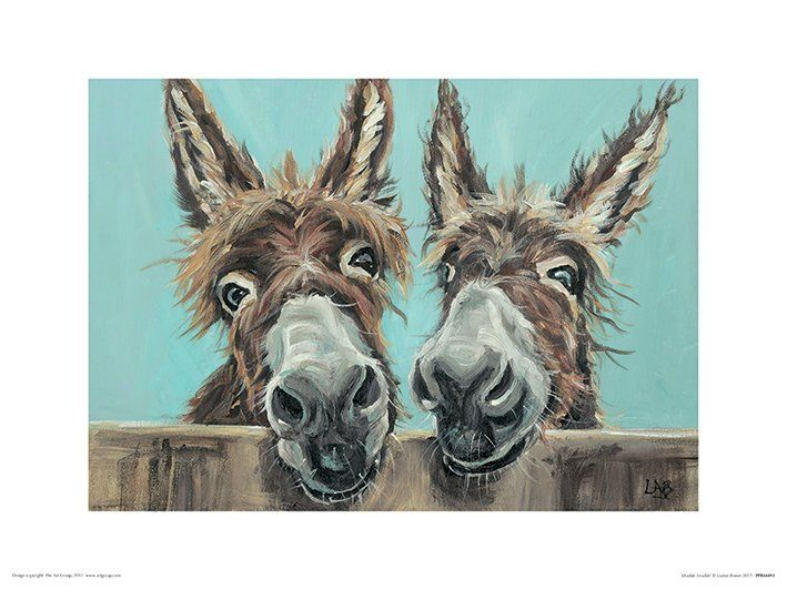 'Double Trouble' by Louise Brown Painting Print