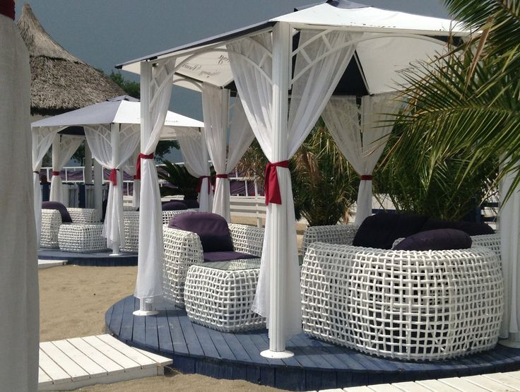 Rainy day sun at Vega Beach Vintage Bar.  Mamaia, Romania