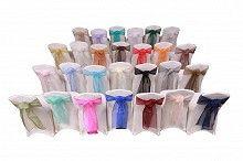 Stoltrekk utleie - sløyfebånd - duker - stoltrekk til stoler med og uten armlene