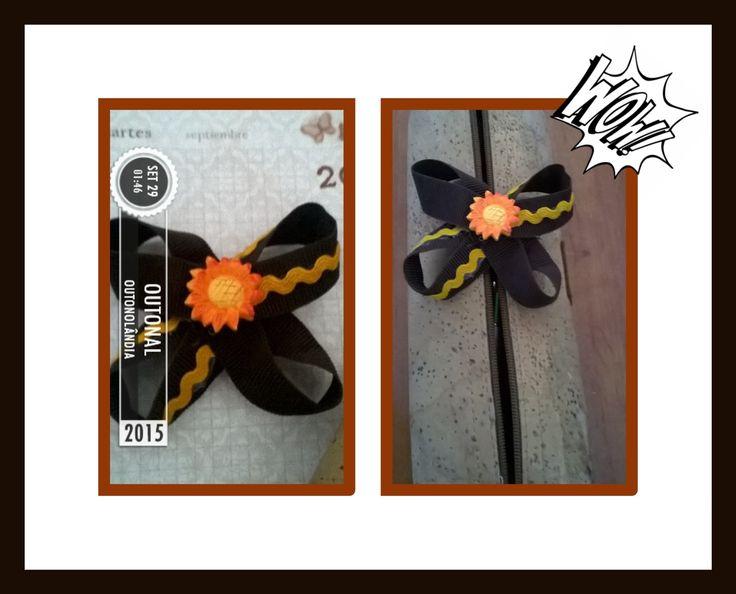 Autumn hair clip/travessão  Outonal