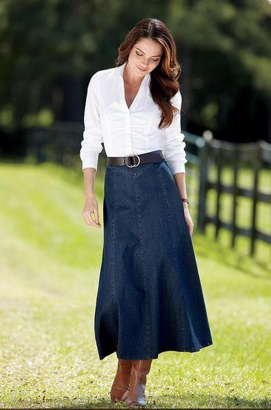 Женщина длинная юбка