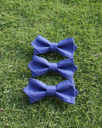 グルームズマン・ドット柄・ボウタイ(ブルー)  #Groomsmen #Bowtie #Gift #Dot