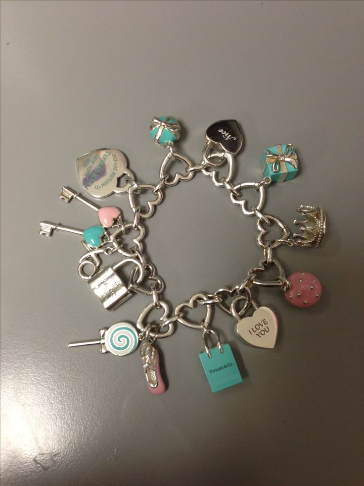 Tiffanys charm bracelet filled!