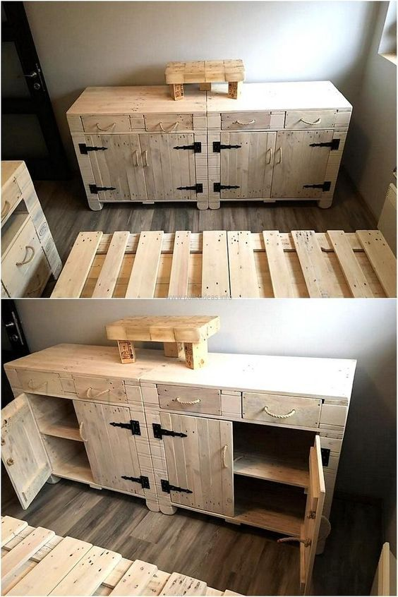 pallet wood side table pallet projects pinterest palettenm bel europalette und holz. Black Bedroom Furniture Sets. Home Design Ideas