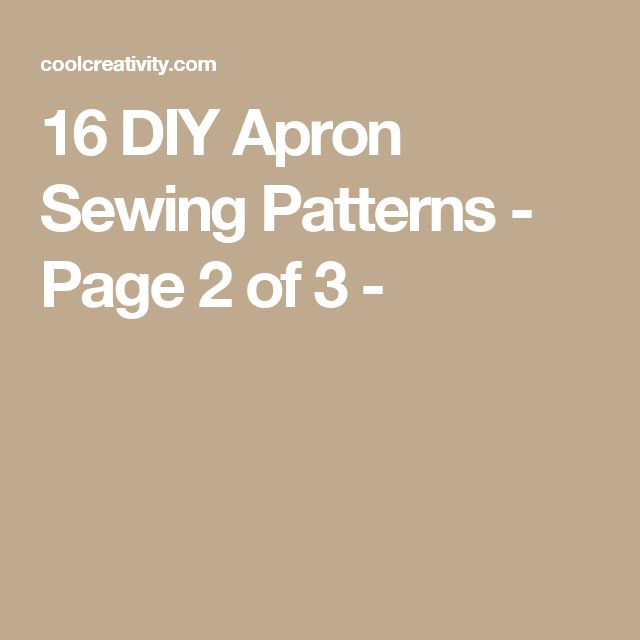 16 DIY Apron Sewing Patterns - Page 2 of 3 -