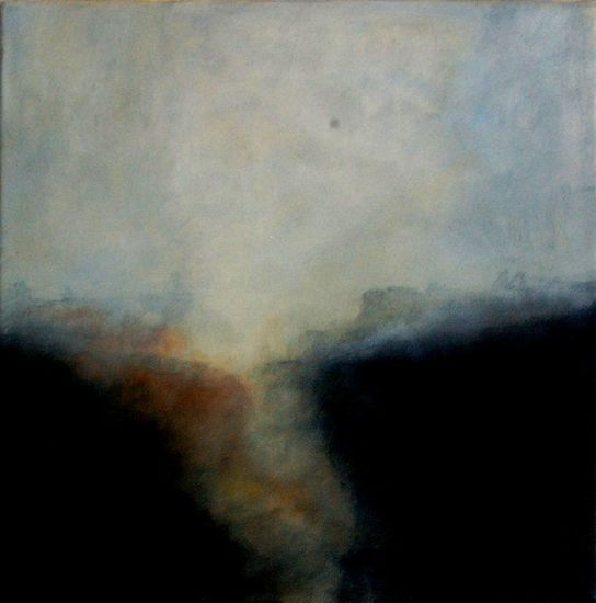 Atmospheric abstract, 30x30 cm. oil on canvas