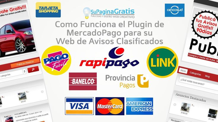 Plugin MercadoPago para su Web de Avisos Clasificados Autoadministrable