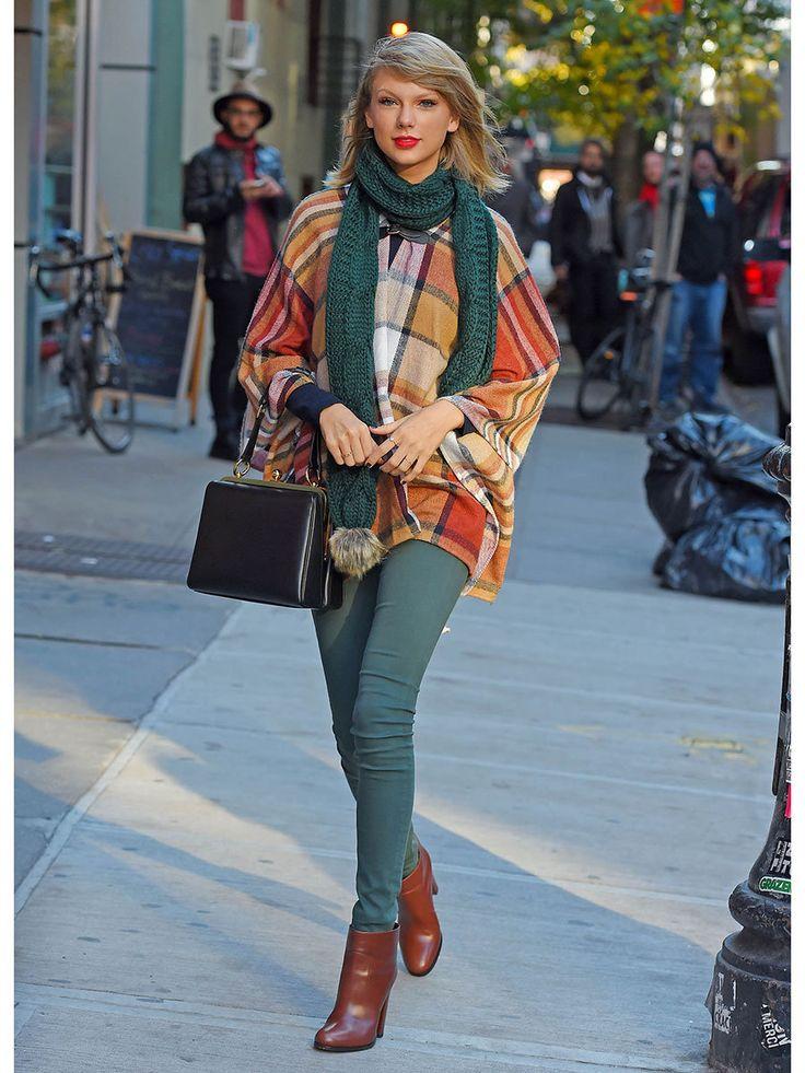 テイラー・スウィフト(Taylor Swift)/レトロなニット小物で季節感たっぷり