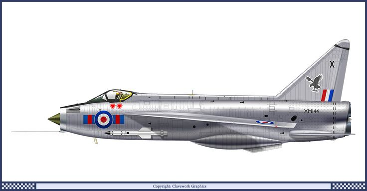 English Electric Lightning F Mk 1 - 23 Squadron RAF 1964    Clavework Graphics