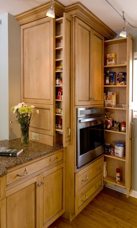 Don't overlook slivers of space in the kitchen. A few inches of space can provide a surprising amount of #kitchen design #kitchen decorating before and after #kitchen designs #kitchen decorating