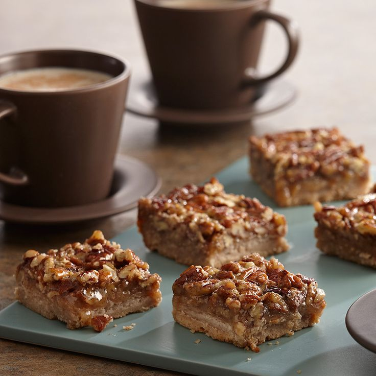 Enjoy all the flavors of pecan pie in these easy-to-make bar cookies.