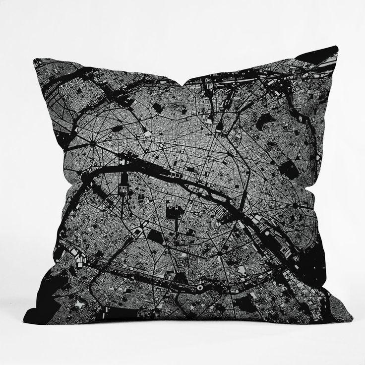 CityFabric Inc Paris Black Throw Pillow | DENY Designs Home Accessories