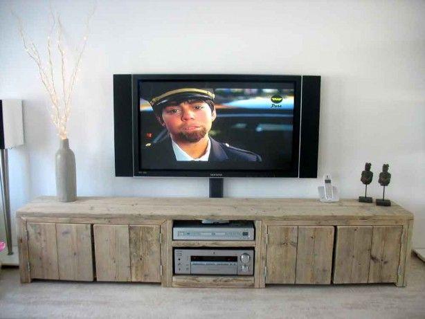 TV meubel van steigerhout #steigerhoutopmaat