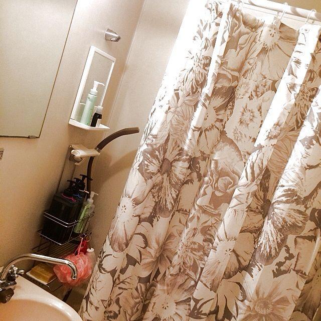 フランフラン シャワーカーテン バス トイレ 一人暮らし 柄 などのインテリア実例 2014 01 23 00 21 15 Roomclip ルームクリップ シャワーカーテン カーテン インテリア