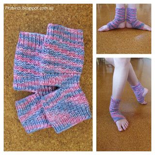 FitzBirch Crafts: Yoga Socks for a Ballerina.  Link to free pattern.