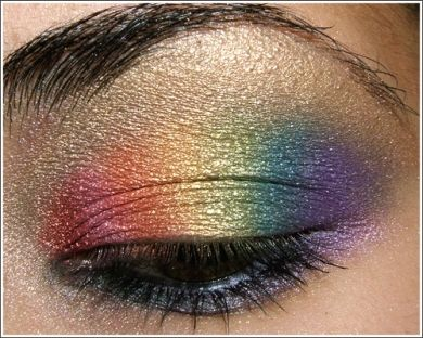 rainbow eyeshadow tutorial