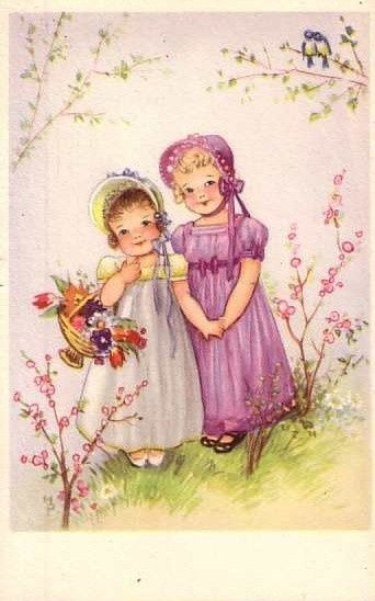 1326 best images about illustration inspiration on pinterest holly hobbie - Mobilier vintage enfant ...