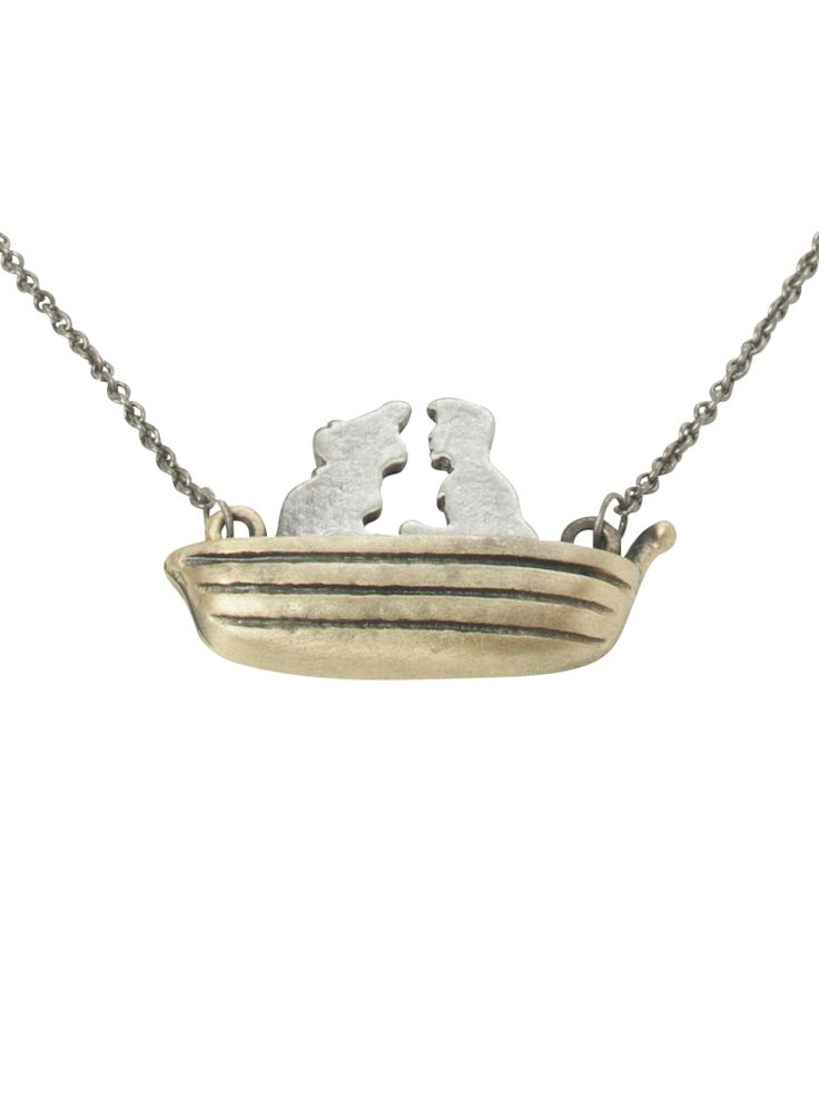 Disney The Little Mermaid Ariel & Eric Boat Necklace | Hot Topic I want to buy this for myself