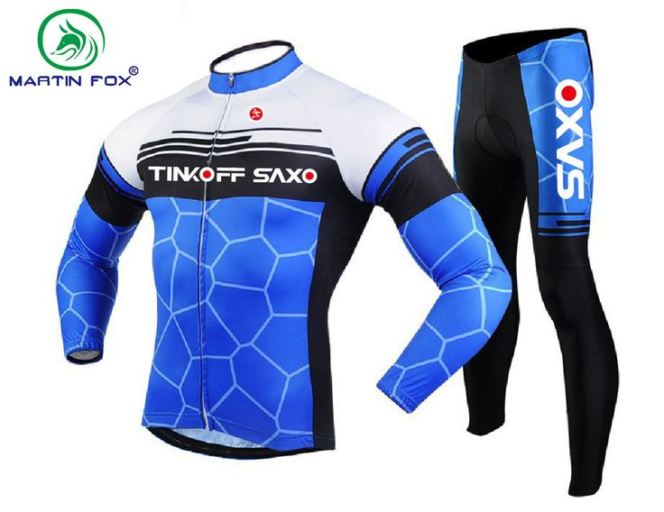 ==> [Free Shipping] Buy Best MARTIN FOX Breathable Blue Cycling Jersey Long Sleeve Maillot Ciclismo Bike Racing Sport Cycling Clothing Sets 2017 Online with LOWEST Price | 32801176789