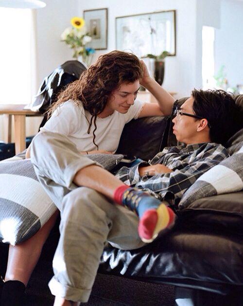 Lorde and her boyfriend. So cute <3