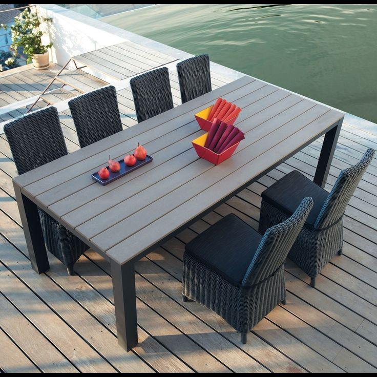 Grey Garden Table In Aluminium W Escale