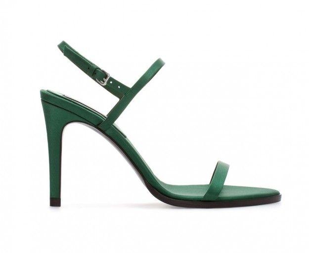Scarpe Zara inverno 2014 - Sandali verdi con tacco