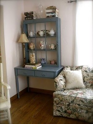 10 WAYS TO REPURPOSE AN OLD WINDOW by robyn