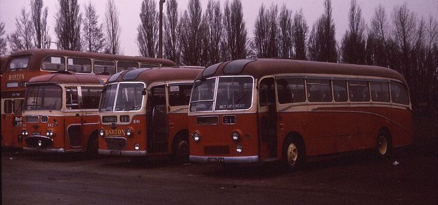 Bus depot Chilwell 1973