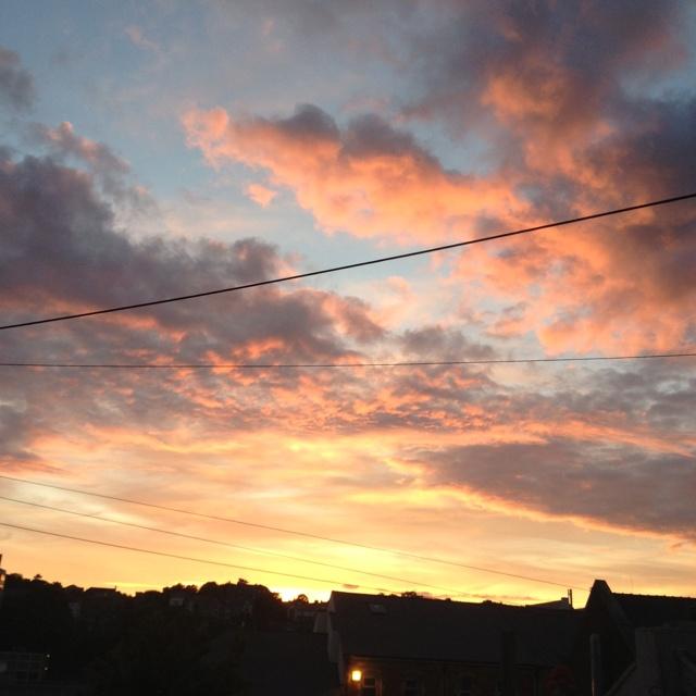 Sunset over Bangor, Gwynedd, North Wales I remember that!!