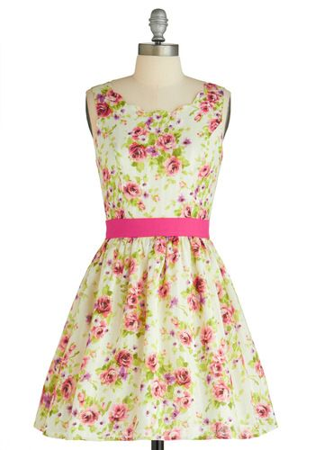 Reverie of Roses Dress from @ModCloth #candigardenparty: Rose Dress, Fashion, Style, Modcloth, Beauty, Things, Floral Dresses
