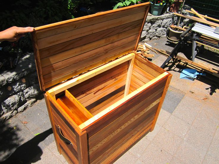 Large cedar storage chest for firewood or whatever.