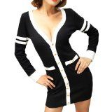 LOCOMOLIFE Sexy Deep V Long Sleeves Casual Uniform Mini Day Night Dress Cocktail Party Clubwear FFD017 One Size Black & White - See more at: http://savewinkie.com/locomolife-sexy-deep-v-long-sleeves-casual-uniform-mini-day-night-dress-cocktail-party-clubwear-ffd017-one-size-black-white-reviews/#sthash.gKioClyM.dpuf