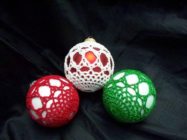 Free Crochet Patterns For Christmas Ball Covers : Satin Ball Ornament Covers Crochet Pinterest