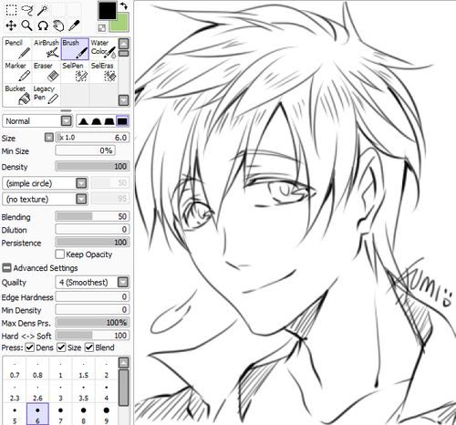Line Art Brush By Jimro : Image result for sai brushes paint tool why