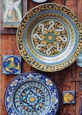 Let's visit Deruta where artisans still hand paint gorgeous ceramics...