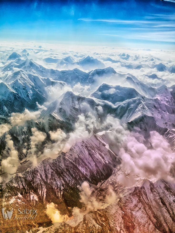 iPhone 4S - Himalayas vanuit het vliegtuig