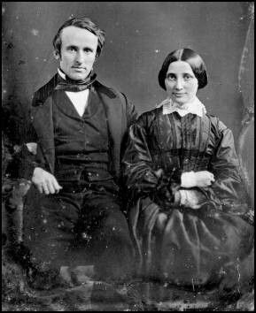 Rutherford B. Hayes - 19th President of the United States, and wife Lucy on their wedding day, December 30, 1852.
