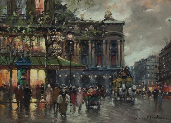 FRENCH STREET SCENE  By Antoine Blanchard