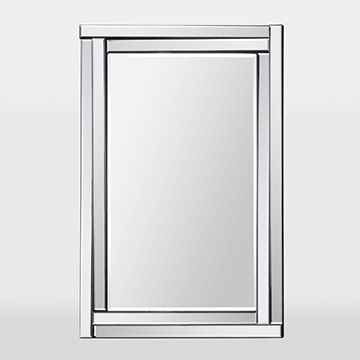 Image On This classic design features a dimensional beveled mirror frame and a beveled center mirror