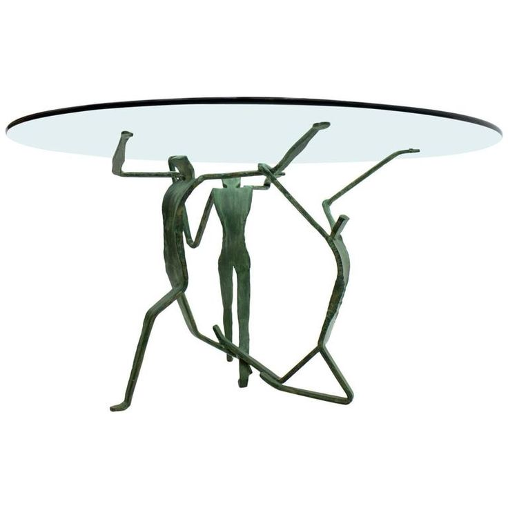Dining Table with Glass and Iron, circa 1970s | From a unique collection of antique and modern dining room tables at https://www.1stdibs.com/furniture/tables/dining-room-tables/