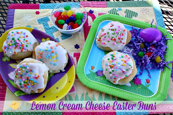 Mommy's Kitchen - Home Cooking & Family Friendly Recipes: Lemon Cream Cheese Easter Buns. #easter #lemon #baking @rhodesbread