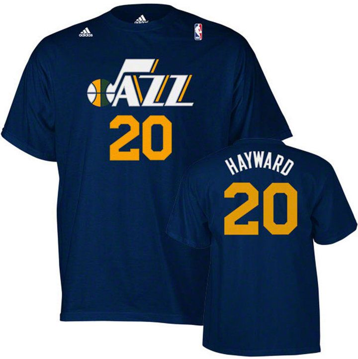 adidas Men's Gordon Hayward Utah Jazz Player T-Shirt