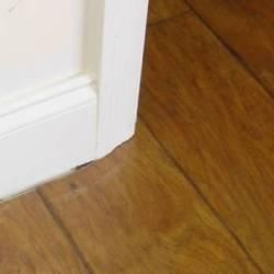 Gaps under door casing jamb saw undercut doors and for Door undercut