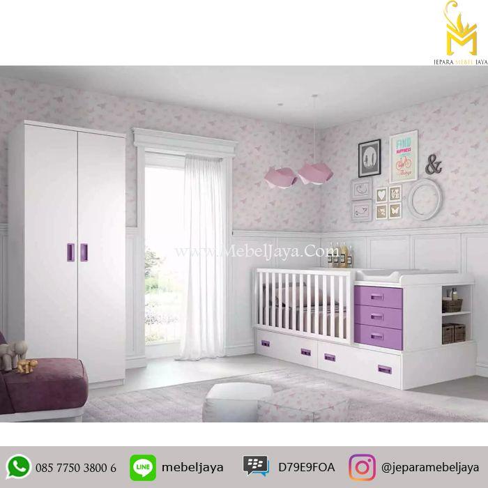 Tempat tidur bayi desain minimalis dan ekonomis dengan bebrapa laci dan lemari untuk menyimpan keperluan baby Anda - Baby Crib Minimalis Modern Terbaru
