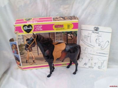 VINTAGE PEDIGREE SINDY DOLL HORSE BOXED. I wanted a horse and my Sindy wanted a horse, but neither of us got lucky.