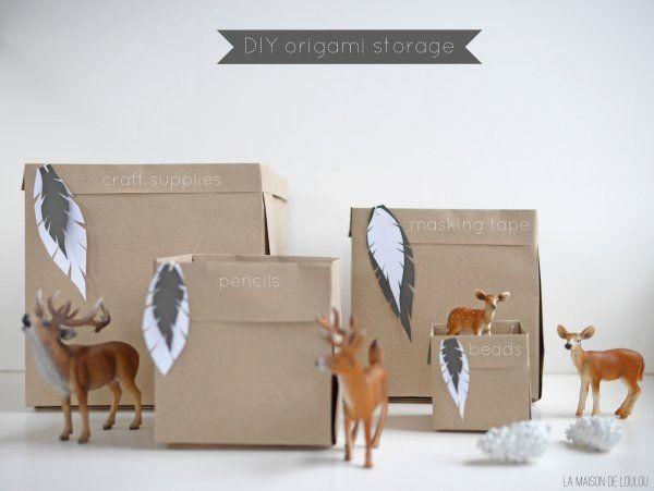DIY origami storage by La maison de Loulou*
