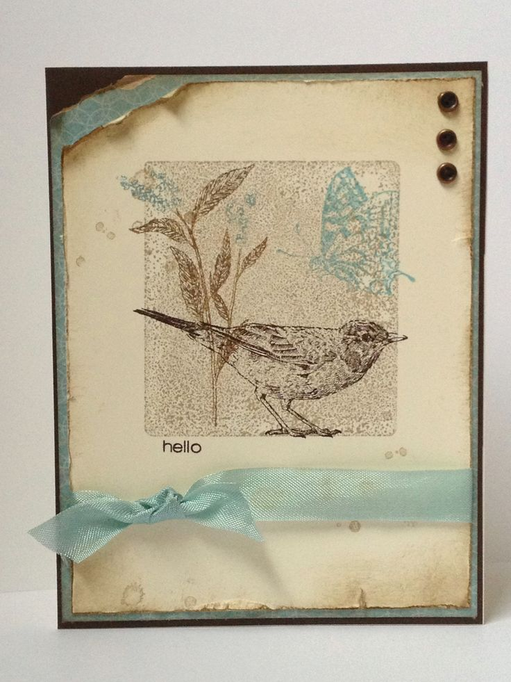 Lovely Card Making Ideas Nature Part - 11: My CASE Of A Card By Liz Hughes. Nature Walk, French Foliage Both Stampin